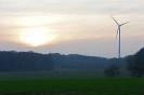 Windrad & sunset